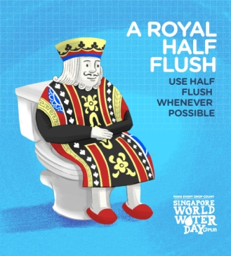 Use the half-flush whenever possible.