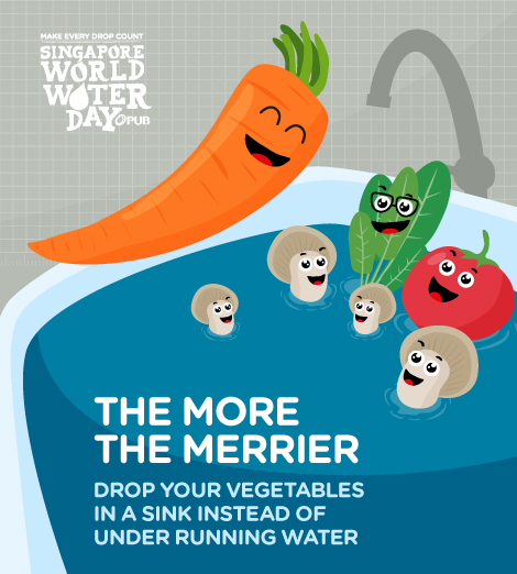 Wash your vegetables in a sink.